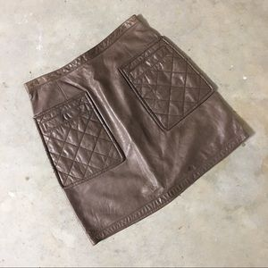 3.1 Phillip Lim Leather Mini-Skirt with Quilting